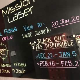 Mission Laser - Passe de saison - $$$