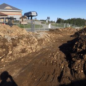 Relocalisation des tuyaux d'enneigement