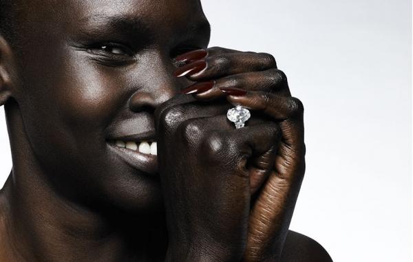 Alek Wek é uma modelo de traços delicados