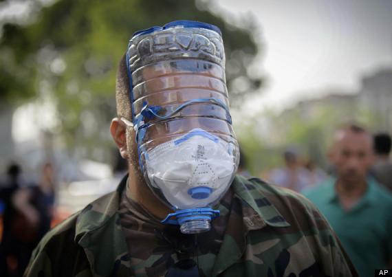 Mascara de gas artesanal