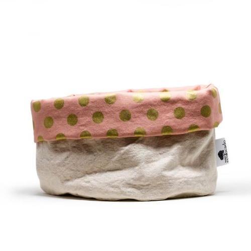 panier tissu rosé