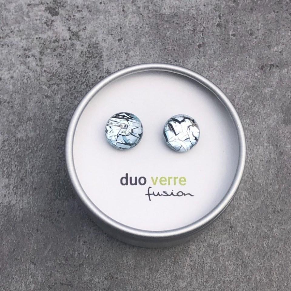 boucles d'oreilles Duo verre