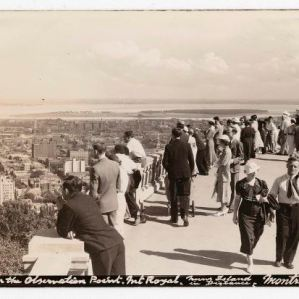 On the Observation Point : Mt. Royal, Nuns Island in distance, Montreal, P.Q. / Sutcliffe, Harry.