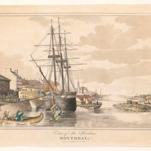 Montreal : view of the harbour / A. Bourne, 1830.