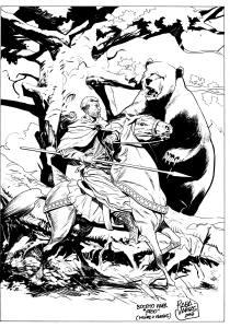 La primera versión de la historia se abría con una cacería de osos que ya no está en el guión.