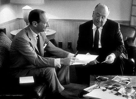 Hitchcock con el guionista Ernest Lehman