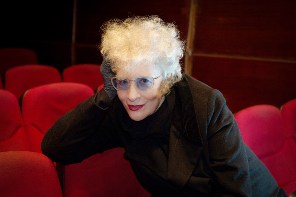 La dramaturga y actriz Magüi Mira en el Teatro Bellas Artes de Madrid Foto: Ana Álvarez Prada