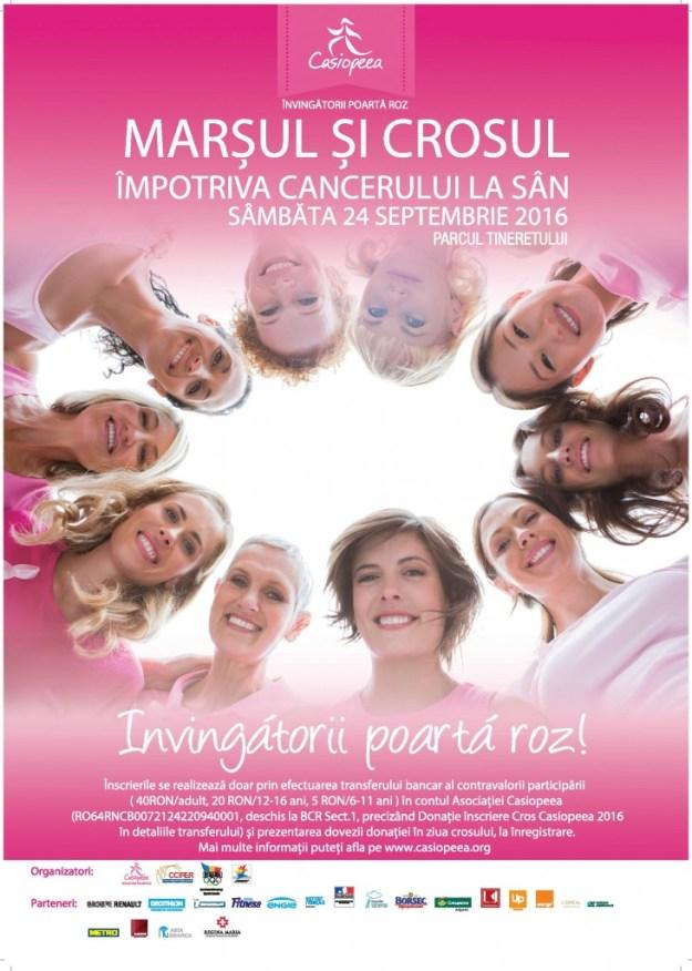 Cros Casiopeea dedicar supravietuitoarelor cancerului