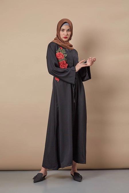 Amanda Dress Black - Model Baju Gamis Terbaru dan Terpopuler