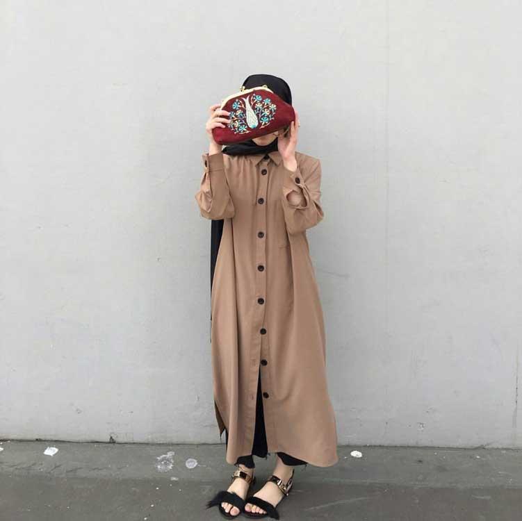 Gamis Model Dress Kemeja - Model Baju Gamis Terbaru dan Terpopuler