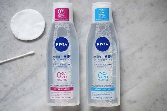 Rekomendasi Micellar Water Untuk Kulit Berjerawat - Nivea MicellAIR Skin Breathe Micellar Water