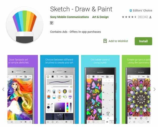 Daftar-Aplikasi-Menggambar-Terbaik-di-Android-Sketch-Draw-Paint