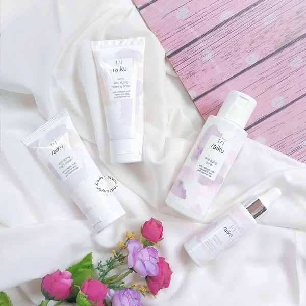 Produk anti aging terbaik - Raiku Beauty Anti Aging Series