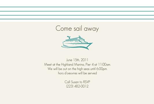 Cruise Wedding Invitation Wording Paperinvite
