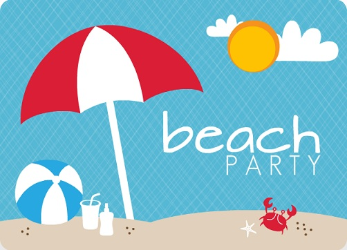 Beach Party Invitation Template – Summer Party Invitations Templates