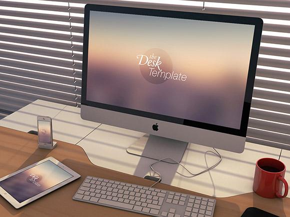 Mockup apple, ecran et téléphone portable