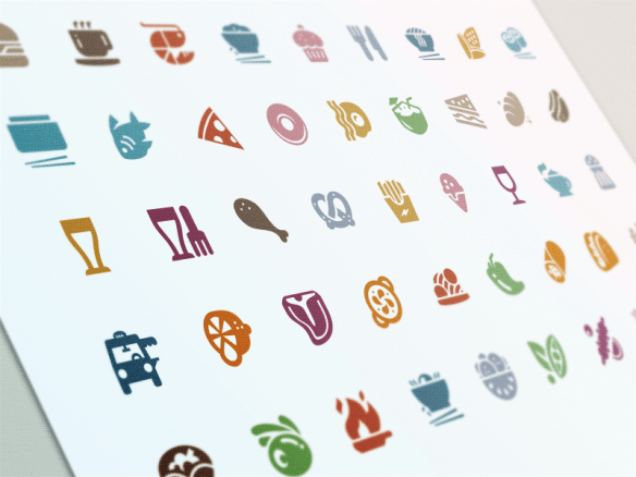 evernote food cuisine icons 635x476 - Inspiration UX design - Food site