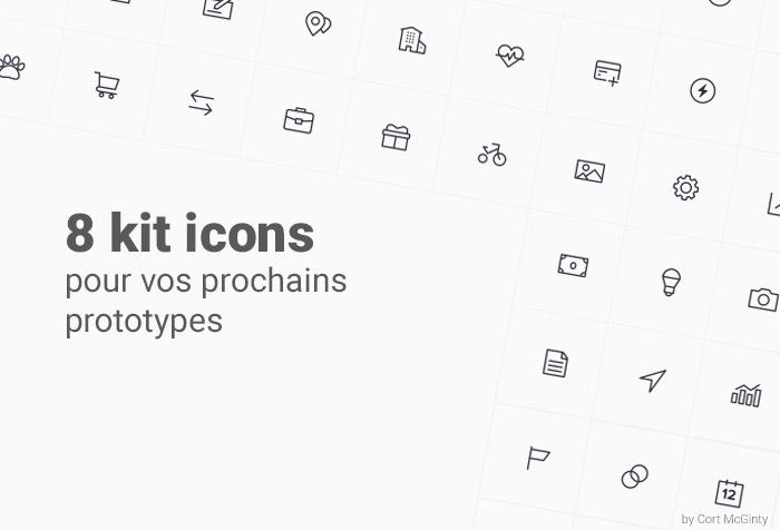 8 kits icons gratuit pour vos templates d'application
