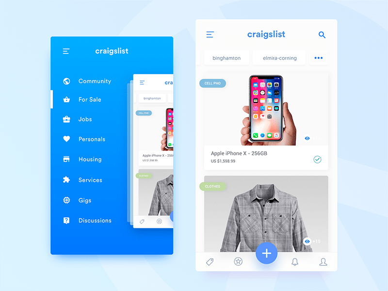 preview4 - 5 inspiration UI - Shop mobile