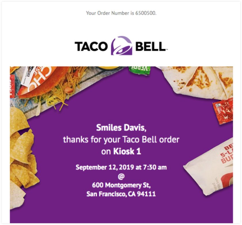 Taco Bell Email Example | ClickFunnels