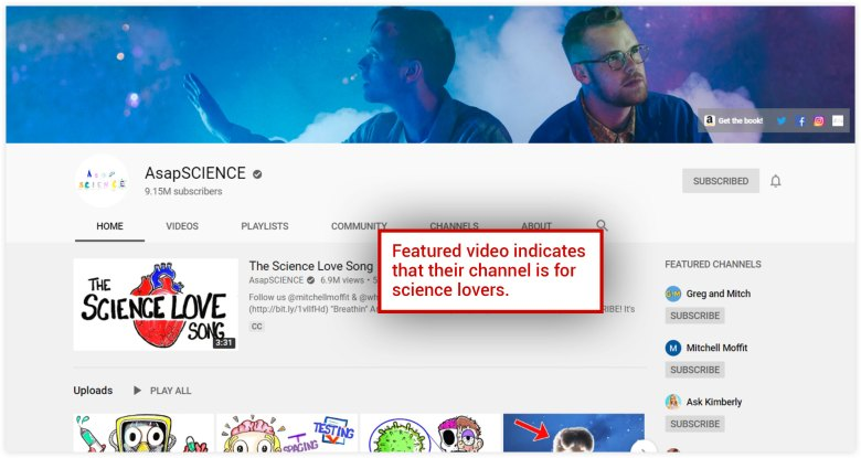 Canale YouTube AsapSCIENCE
