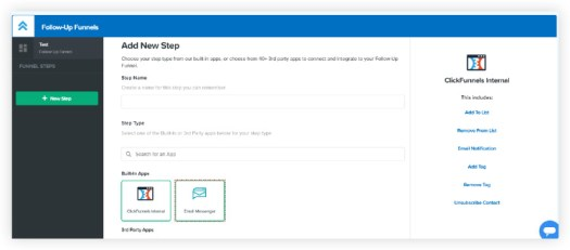 Click funnels follow up funnels dashboard for creating email sequences.