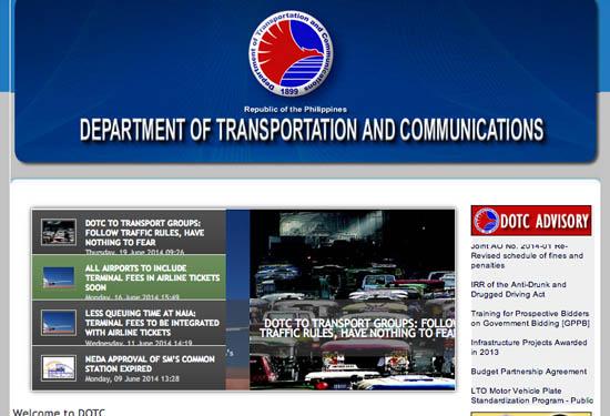DOTC website
