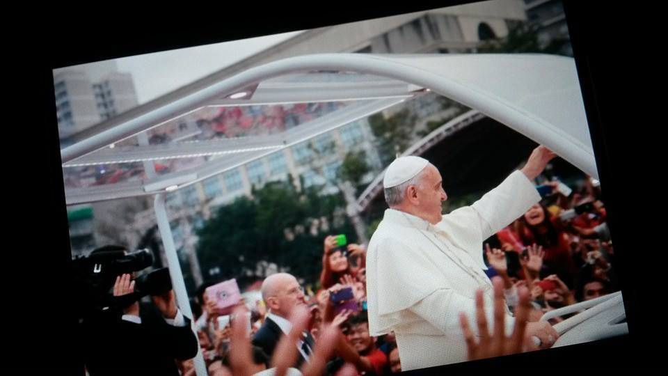 Pope Francis in UST