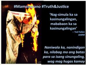 mamasapano truth and justice