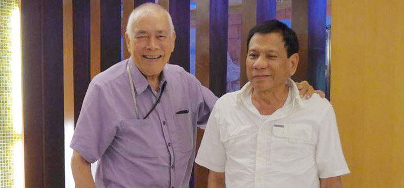 """The original """"promdi"""" Lito Osmeña in May 2015 backed Rody Duterte to run for president a year ahead of the polls"""