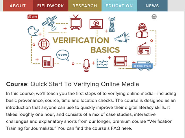 online verification course