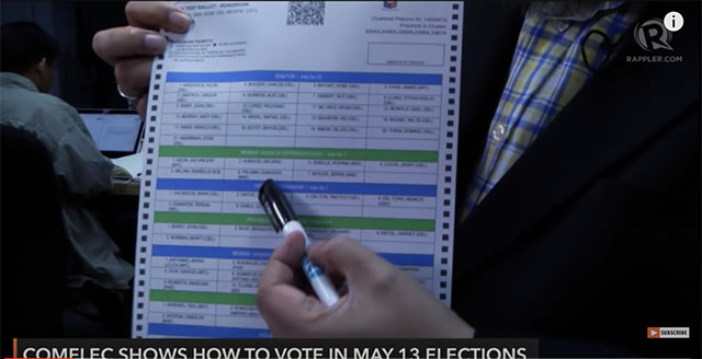comelec how to vote copy