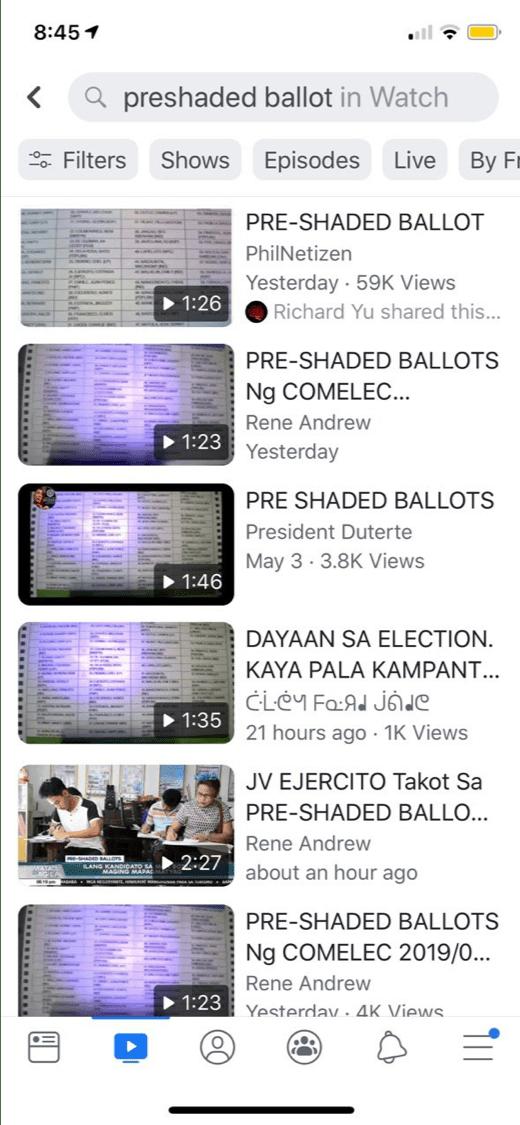 pre shaded ballots