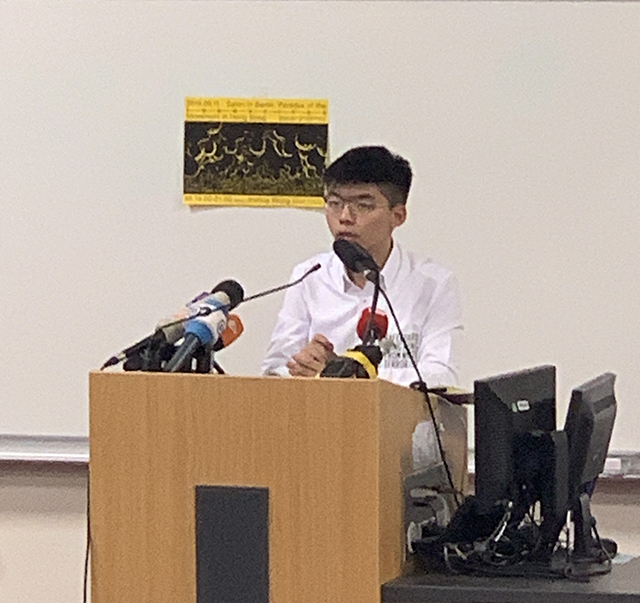 joshua wong in berlin