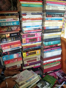 My local raddiwalla who stacks up every book he gets. I've picked some gems from him for a song.