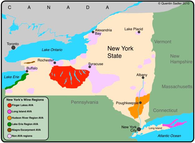 NY AVA Map