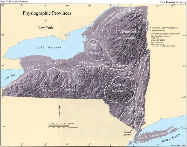 NY Physiographic map