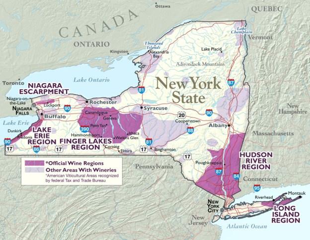NY Wine Regions Map 1