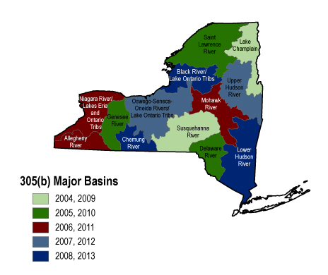 Map of NY State basins