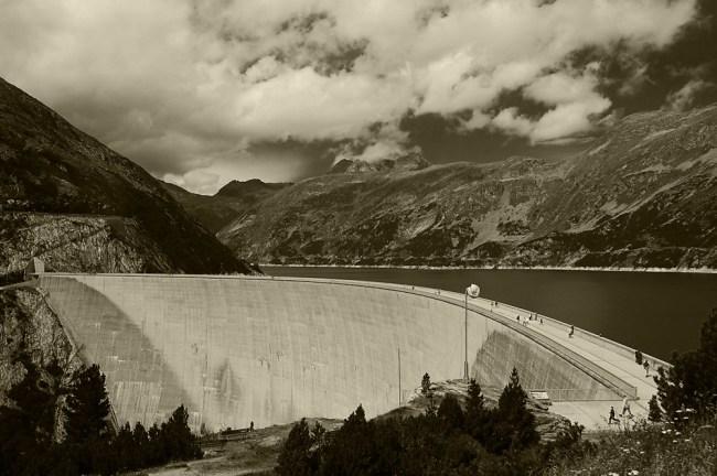 Black and white dam