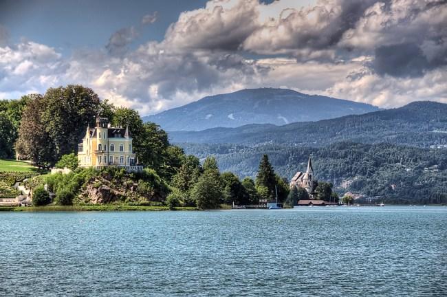 Woerthersee lake