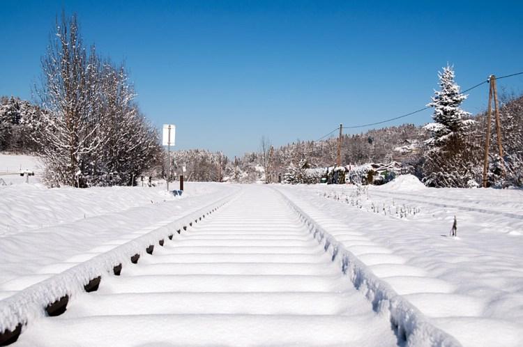 Snowy railroad