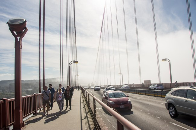 Fog on Golden Gate Bridge