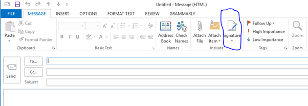 Outlook Signature setup