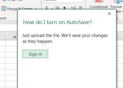 How do I turn on AutoSave