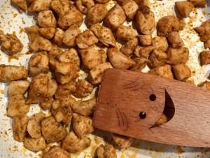 Filet z kurczaka pokrojony w kostkę