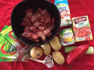 Skladniki na zupę gulaszową