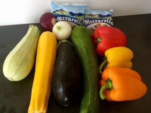 Skłądniki do zapiekanki warzywnej