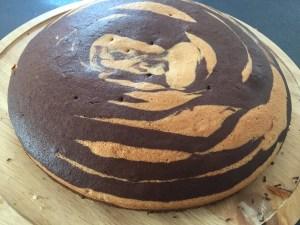 Gotowy placek po wyjęciu z piekarnika