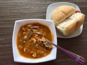 Szybka zupa z żołądków